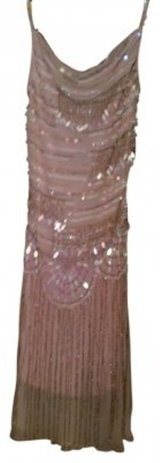Sue Wong Sleeveless Embellished With Sequins And Beads Dress