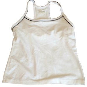 Old Navy Built-in Bra Sporty Spandex Top White
