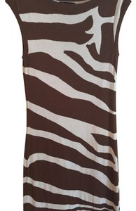 INC International Concepts short dress Brown ans white on Tradesy