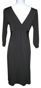 BCBG Max Azria Draped V-neck 3/4 Sleeve Dress