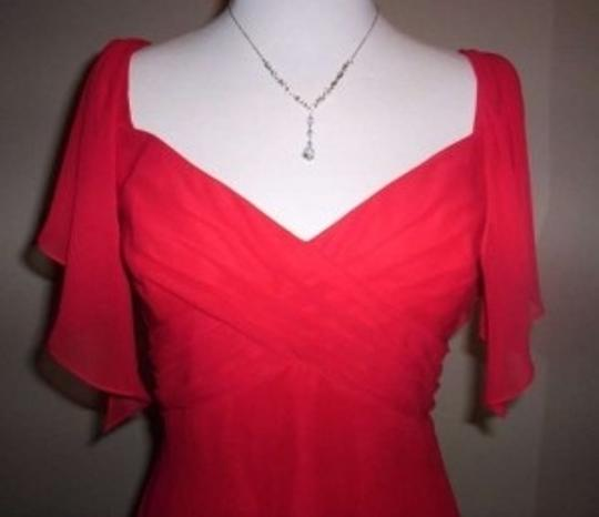Alfred Angelo Cherry Chiffon 7193 Formal Bridesmaid/Mob Dress Size 10 (M)