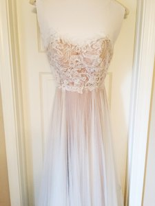 BHLDN Ivory and Bronze Tulle; Polyester Lining Penelope Gown From Wedding Dress Size 6 (S)