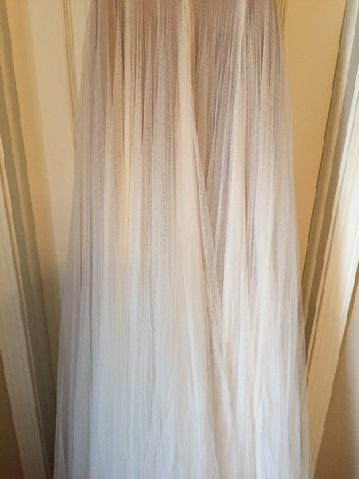 BHLDN Ivory and Bronze Tulle; Polyester Lining Penelope Gown From Wedding Dress Size 6 (S) Image 4