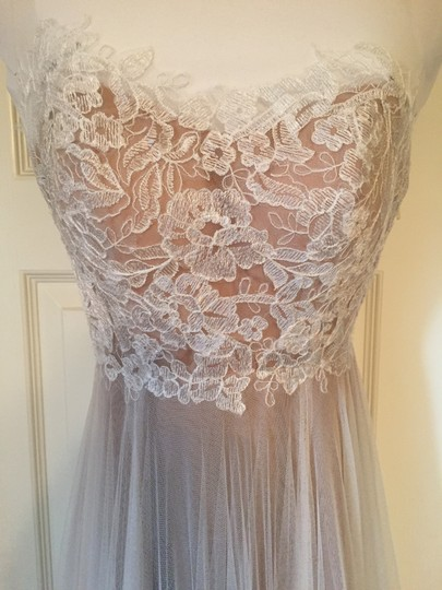 BHLDN Ivory and Bronze Tulle; Polyester Lining Penelope Gown From Wedding Dress Size 6 (S) Image 5