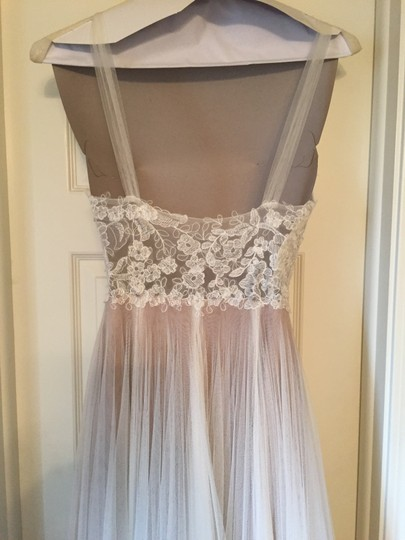 BHLDN Ivory and Bronze Tulle; Polyester Lining Penelope Gown From Wedding Dress Size 6 (S) Image 6