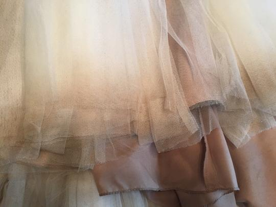 BHLDN Ivory and Bronze Tulle; Polyester Lining Penelope Gown From Wedding Dress Size 6 (S) Image 7
