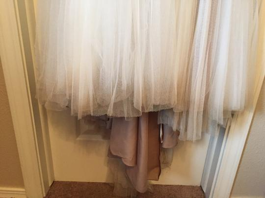 BHLDN Ivory and Bronze Tulle; Polyester Lining Penelope Gown From Wedding Dress Size 6 (S) Image 8