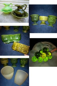 Retro Greenware Pottery For Centerpieces Or Candy Bar