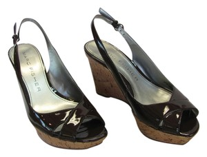 Marc Fisher Size 5.50 M (usa) Good Condition Dark Brown, Neutral Wedges