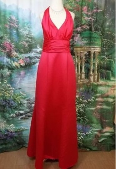 Alfred Angelo Pomegranate Satin 7197 Formal Bridesmaid/Mob Dress Size 10 (M)