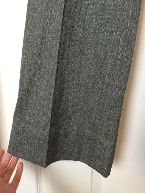 Banana Republic Trouser Pants Gray Metallic Stripe
