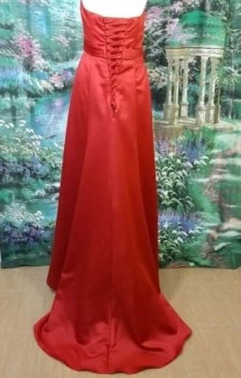 Alfred Angelo Cherry Satin 7198 Formal Bridesmaid/Mob Dress Size 12 (L)