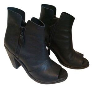 Rag & Bone Leather Peep Toe Black Boots