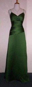 Alfred Angelo Forest Satin 7199 Formal Bridesmaid/Mob Dress Size 14 (L)