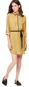 Ann Taylor LOFT short dress Mustard Belted on Tradesy