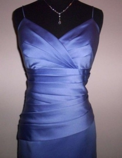 Alfred Angelo Peri Satin 7199s Formal Bridesmaid/Mob Dress Size 12 (L)