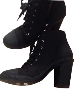 DKNY Sneaker Canvas Black Boots