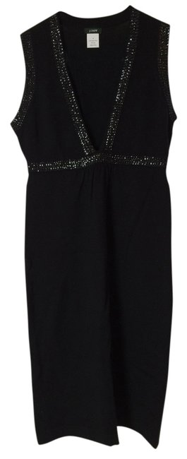 Preload https://item4.tradesy.com/images/jcrew-black-with-sequins-merino-sweater-above-knee-night-out-dress-size-4-s-1483243-0-0.jpg?width=400&height=650
