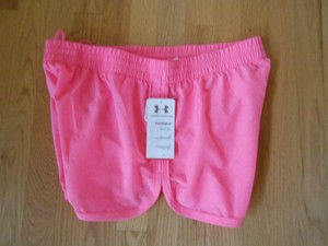 "Under Armour UNDER ARMOUR NEW $30 Women's UA 1237254 PERFORATED ESCAPE 3"" RUNNING SHORT HeatGear #682 Pink Large"
