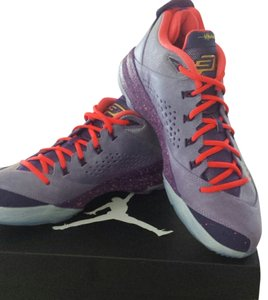 Air Jordan Light Purple neon red and gold Athletic