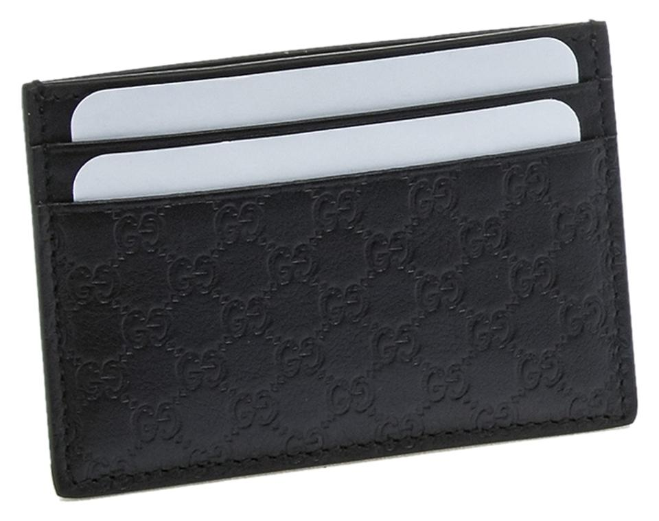 5004831209c8 Gucci Black Leather Micro-guccisima Money Clip Card Holder (19787) Wallet