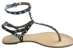 Dolce Vita Studded Sexy Summer Gothic Black Sandals