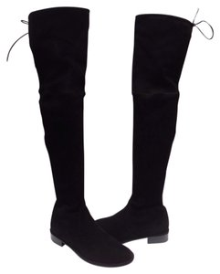 Stuart Weitzman Over The Knee Stretch Suede Black Boots