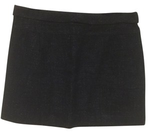 J.Crew Mini Skirt Navy blue, Silver