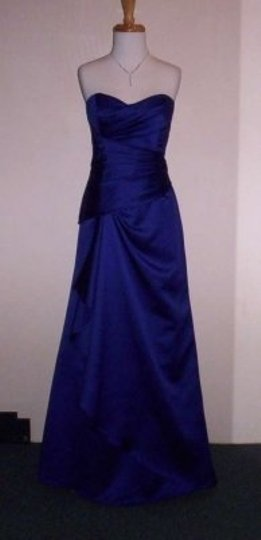 Alfred Angelo Purple Storm Satin 7203 Formal Bridesmaid/Mob Dress Size 14 (L)