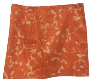 J.Crew Mini Skirt Orange, Ivory