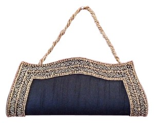 India Hand Beaded Black Clutch