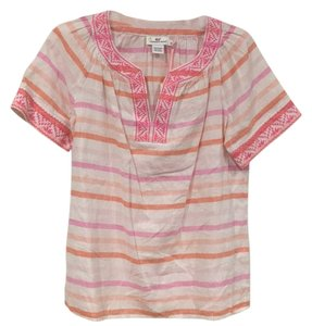 Vineyard Vines Top Pink, White, Orange
