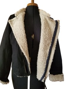 American Eagle Outfitters Wool Faux Fur Rocker Coat