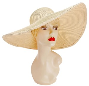 Other Neutral Beige Beach Sun Cruise Summer Large Wide Brim Floppy Hat