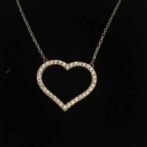 Other Crystal and silver heart necklace