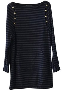 Marc by Marc Jacobs short dress Black with blue stripes. on Tradesy