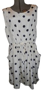 J.Crew Silk Sleevless Polka Dot Dress
