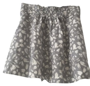 Forever 21 Mini Skirt Gray and white