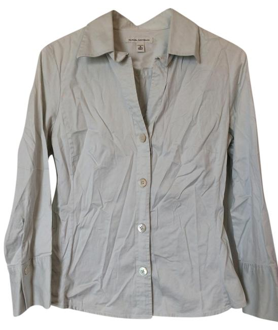 Preload https://item5.tradesy.com/images/banana-republic-off-white-sateen-shirt-button-down-top-size-8-m-1483464-0-0.jpg?width=400&height=650