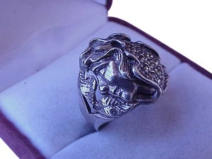 Other Antique C. 1900 Art Nouveau Sterling Silver Flowing Lady Estate Womens Ring