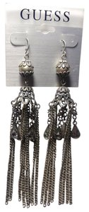 Guess Guess Chandelier Earrings Silver Long Dangle Crystal 4 Inch J2432
