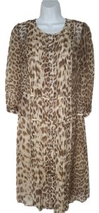 Talbots short dress Leopard Animal Print Silk on Tradesy