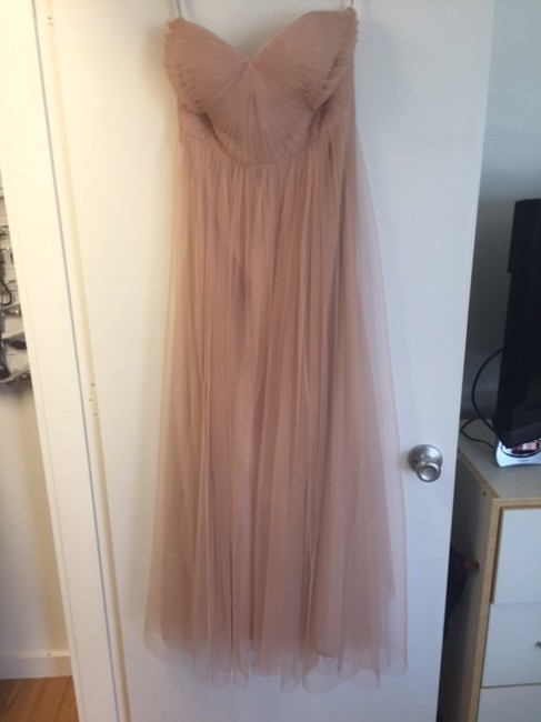 Item - Tuscan Beige Tulle 'annabelle' Convertible Column Feminine Bridesmaid/Mob Dress Size 8 (M)