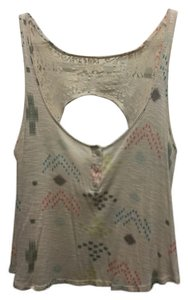 PacSun Lace Trim Sleeveless Top Beige