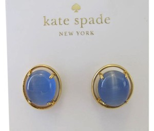 Kate Spade KATE SPADE New York open rim Stud Earrings Blue Authentic With Tag