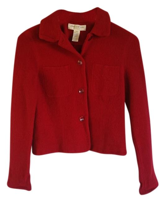 Jones New York Wool Red Blazer