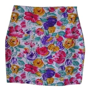 SC Skirt Floral, red, green, purple
