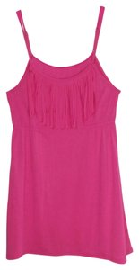 Since Beach Culture Since Beach Culture Women's Size Medium Pink Fringed Dress or Cover Up