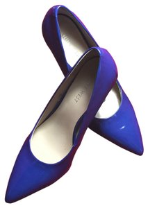 Nine West Stiletto Faux Patent Classic Blue Pumps