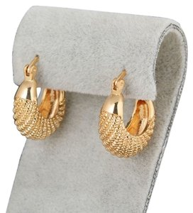 New 14K Gold Filled Small Hoop Earrings Thick Chunky J2434
